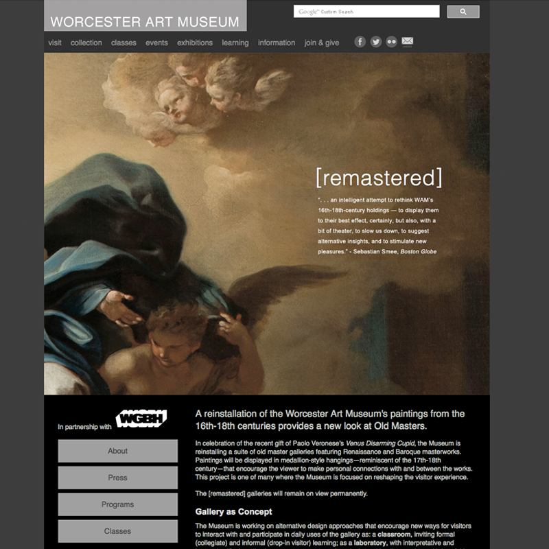 "<a href=""http://www.worcesterart.org/exhibitions/remastered/"">worcesterart.org/exhibitions/remastered</a>"
